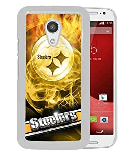 Hot Sale Motorola Moto G 2nd Generation Case ,Pittsburgh Steelers 19 White Motorola Moto G 2nd Cover Unique And High Quality Designed Phone Case
