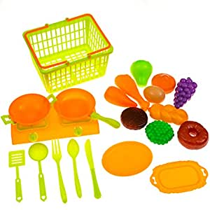 toy kitchen food accessories pretend play food set for shopping 6316