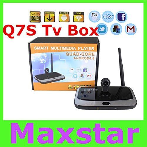 MU Q7 Android 4.4 RK3188T TV Box Quad Core XBMC / KODI Pre instalado Bluetooth 2G / 8GB 2MP cámara Mic mejor que cs918s ca918 Q7: Amazon.es: Electrónica