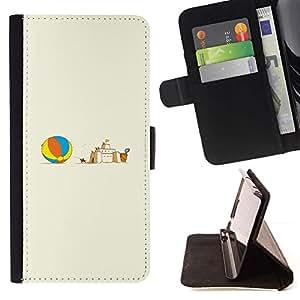 Momo Phone Case / Flip Funda de Cuero Case Cover - Castillo de arena;;;;;;;; - Sony Xperia M5