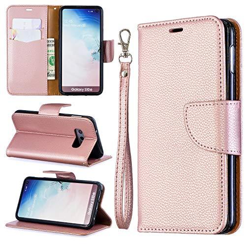 - Galaxy S10 Case, ZERMU Litchi Grain Style Shockproof Premium PU Leather Kickstand Feature Flip Folio Wallet Case with Credit Card Holder/Slots and Wrist Lanyard Case for Samsung Galaxy S10 6.1