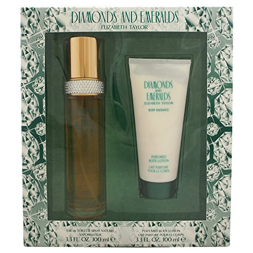 Diamonds & Emeralds By Elizabeth Taylor For Women. Set-EDT Spray 3.3 Ounces & Body Lotion 3.3 ()