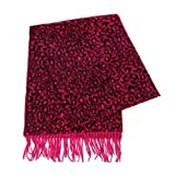 Cashmere Feel Scarf, for women, Multicolor Blanket Wrap, by SERENITA, Leopard Red
