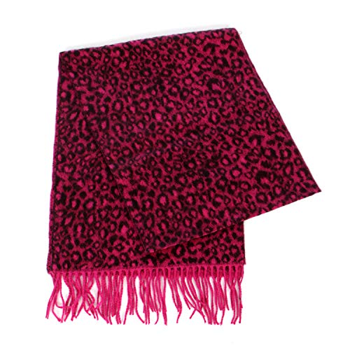 Cashmere Feel Scarf, for women, Multicolor Blanket Wrap, by SERENITA, Leopard Red by SERENITA