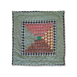 Patch Magic Harvest Log Cabin Toss Pillow, 16-inch By 16-inch