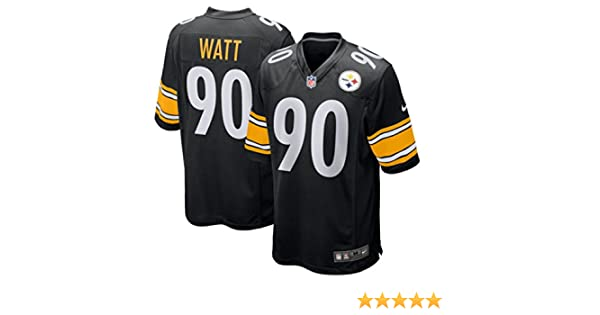 best website 7e94e 7699f Nike TJ Watt Pittsburgh Steelers Game Youth Black Jersey (Youth Sizes)