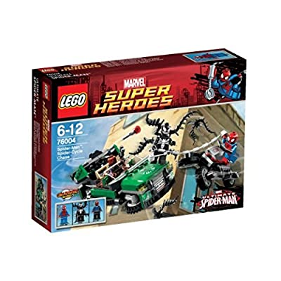 LEGO Super Heroes Spiderman Spider Cycle Chase 76004: Toys & Games