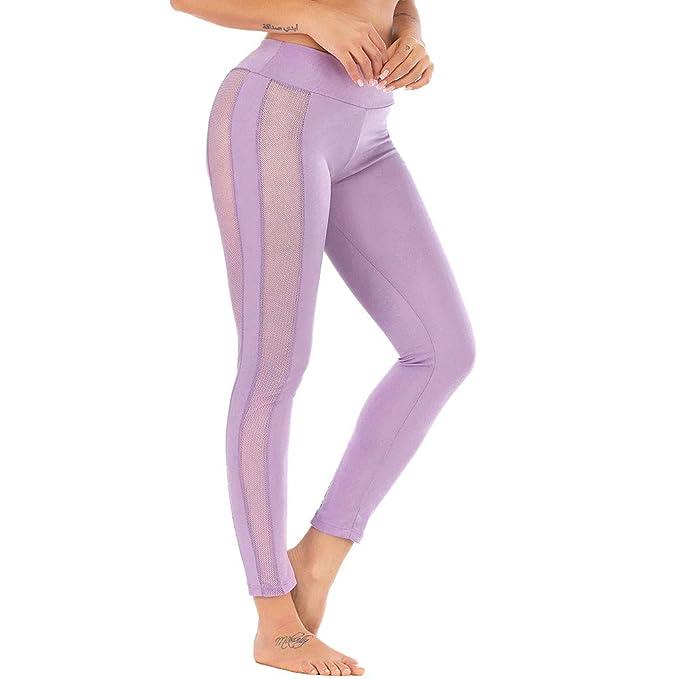 Amazon.com: Kemilove - Pantalones de yoga para mujer con ...