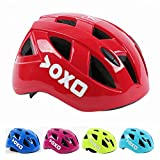 Cheap Kolodo Kids/Teenager Roller Skating Bicycle Helmet Family Cycling Safety Breathable Bike Helmet Adjustable Children Safety Protection for Girls And Boys By Red, M(20.4″-22″ head girth)