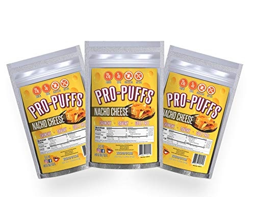 Pro-PuffsTM Nacho Cheese | 21g Protein – 3g Carbs | High Protein Puffs | Low Carb, Keto Friendly, Gluten Free, Soy Free, Peanut Free | (Nacho Cheese, 3 Pack)