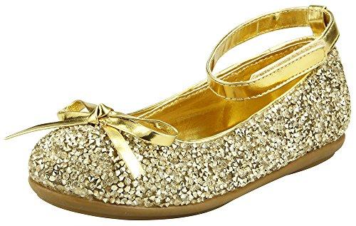 (The Doll Maker Metallic Glitter Strap Flat Shoes-TD173022B-13)