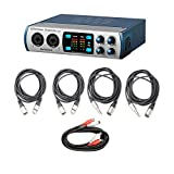 PreSonus Studio 26 2x4 USB 2.0 24-bit 192 kHz Audio Interface with AxcessAbles Cables