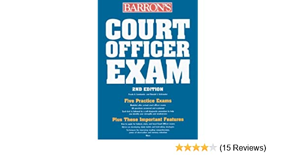 court officer exam barron s court officer exam aa amazon com books rh amazon com nys court officer sergeant exam study guide Probation Officer in Court