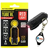 Nitecore Tube-RL Red Light Tiny USB Rechargeable LED Light 13 Lumens w/ Lightjunction Keychain light (Tube-RL)