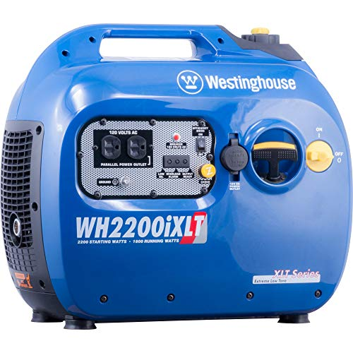 Westinghouse WH2200iXLT Super Quiet Portable Inverter Generator – 1800 Rated Watts and 2200 Peak Watts – Gas Powered – CARB Compliant (Certified Refurbished)