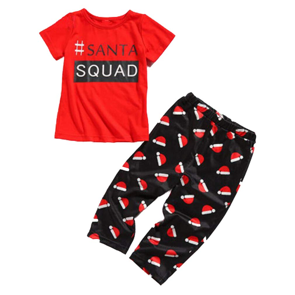 d4cc4a6af0 Juleya Merry Christmas Matching Family Pyjamas Set Sleepwear Nightwear  Homewear Short Sleeve Outfits Christmas Dad Mom ...