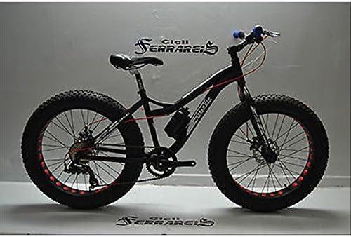 Bicicleta FAT BIKE Evo MTB gomas Grosse 24 de aluminio negra y ...