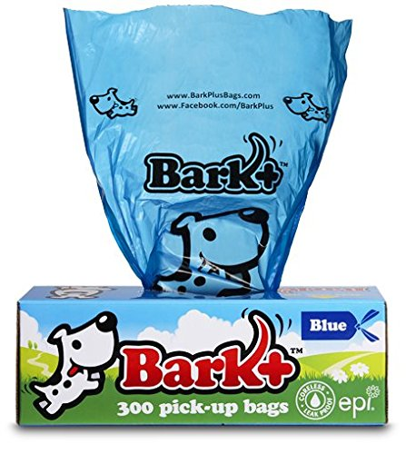 Bark Dog Waste Poop Bags, 300 Count Blue
