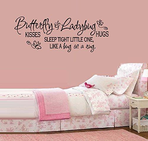 (Butterfly Kisses & Ladybug Hugs...- Wall or Window Decal 12