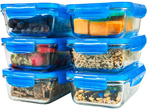 Glass Meal Prep Containers - Glass Food Storage Containers
