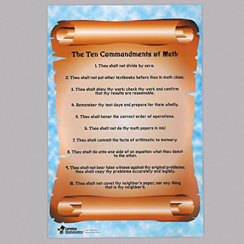 - Ten Commandments of Math/Mathitudes Poster Set