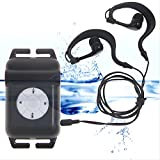 Y&M(TM) New 100% IPX8 Waterproof MP3 Player 8GB Head Wearing Sport MP3 Player FM Radio Music Player For Swimming Running Surfing Diving Sport (Black)