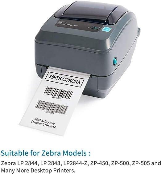 2000 etichette per pila Fanfold 2 etichette termiche dirette da 10,2 x 15,2 cm con linea perforata per stampanti termiche compatibili con Zebra