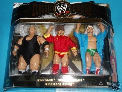 WWE Classic Iron Sheik - Nikolai Volkoff - King Kong Bundy 3 Pack Jakks Pacific by WWE