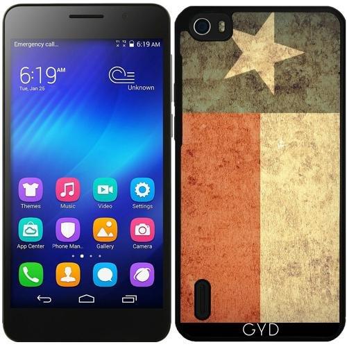 Funda de silicona para Huawei Honor 6 - Grunge Bandera De Texas by Warp9