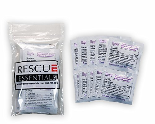 (BZK Antiseptic Towelettes - 10 Pack)