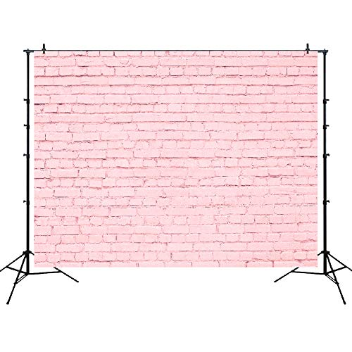Pink Brick - Pink Brick Wall Photo Backdrop 7x5ft Vinyl Party Accessory Product Art Portrait Photography Background Studio Props