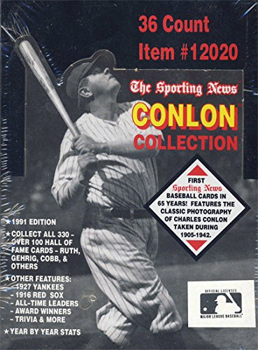 1991 Conlon Collection Baseball Box - Conlon Collection
