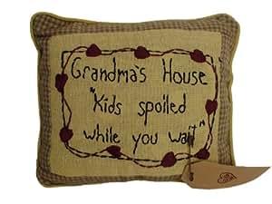 Grandma's House Stitchery Pillow