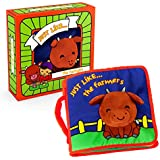 ToBe ReadyForLife Cloth Book Baby Gift, Soft Books for Newborn Babies, 1 Year Old & Toddler, Educational Toy for Boy & Girl, Touch and Feel Activity, Crinkle Peekaboo, Gift Box, Shower Gifts