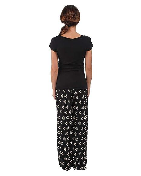 The Essential One- Pijama de lactancia/Camisón lactancia premamá con mangas cortes/Camisones y saltos de cama para mujer EOM135: Amazon.es: Bebé