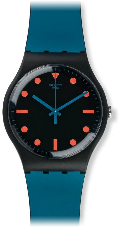 Swatch Unisex-Armbanduhr Analog Quarz Silikon SUOB121