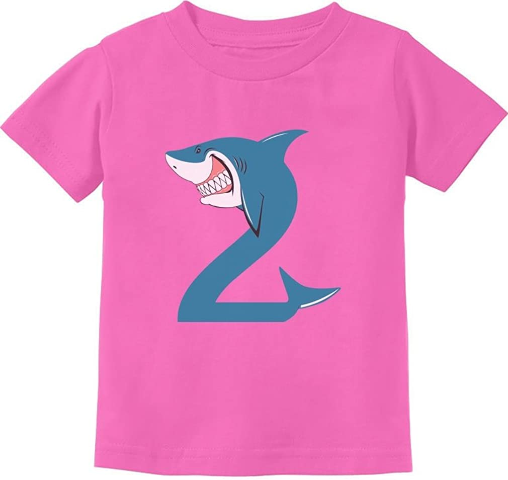 TeeStars - 2nd Birthday Shark Party Gift for Two Year Old Toddler Kids T-Shirt