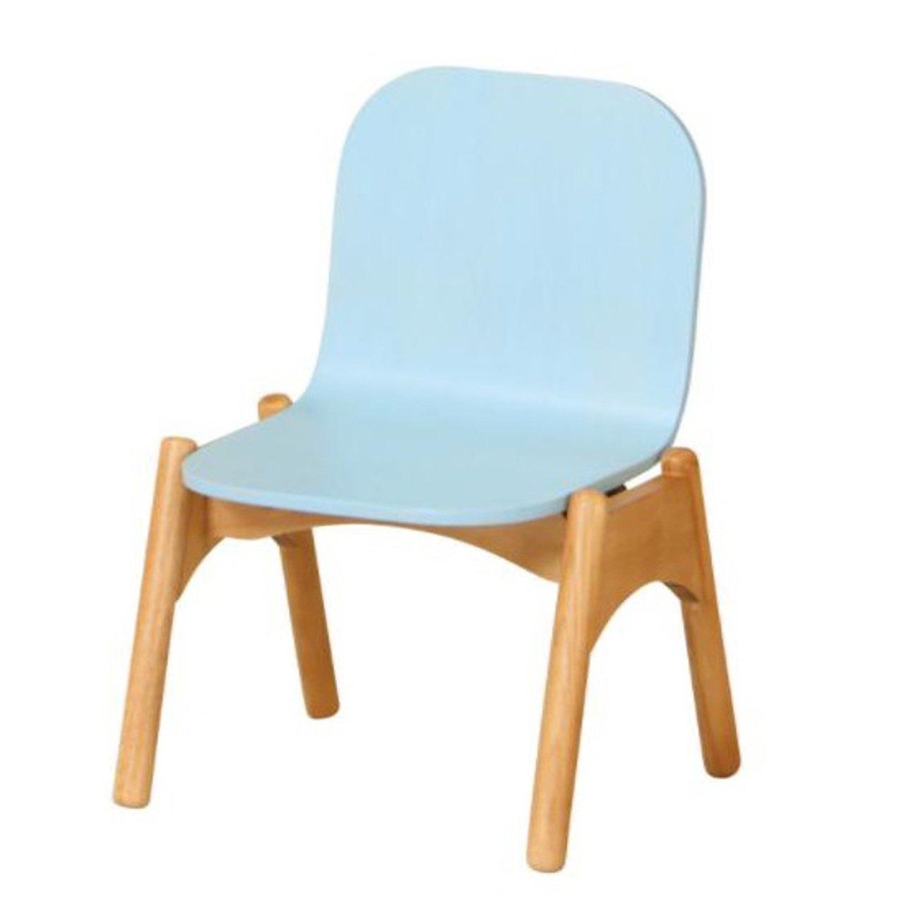 AHEART 天然木 キッズチェア 子供用 チェア 木製 SI 309 ブルー B0792MH9B9 ブルー ブルー