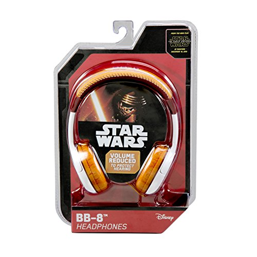 092298925509 - Star Wars The Force Awakens Episode 7 BB 8 Kid Friendly Volume Reduced Youth Stereo Headphones carousel main 4