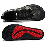Kuuland Water Aqua Socks Men Quick Dry Barefoot Hiking Beach Swim Pool Surf Yoga Shoes for Water Sports(Black,46 EU