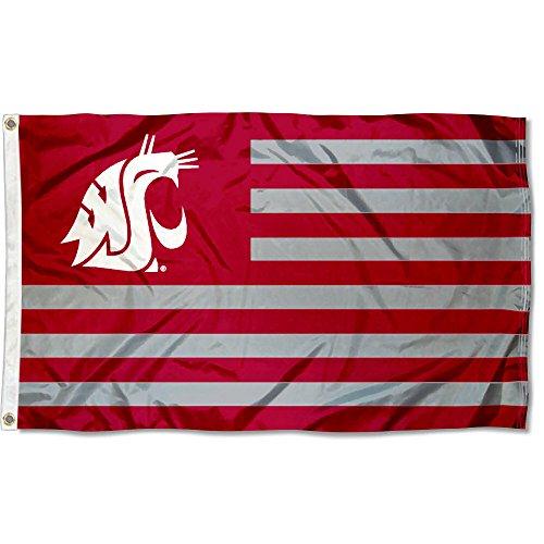 (Washington State Cougars Stars and Stripes Nation Flag)