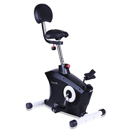 SereneLife Exercise Bike   Stationary Bicycle Pedal Cycling Trainer Fitness Machine  Equipment For Under Desk Workout