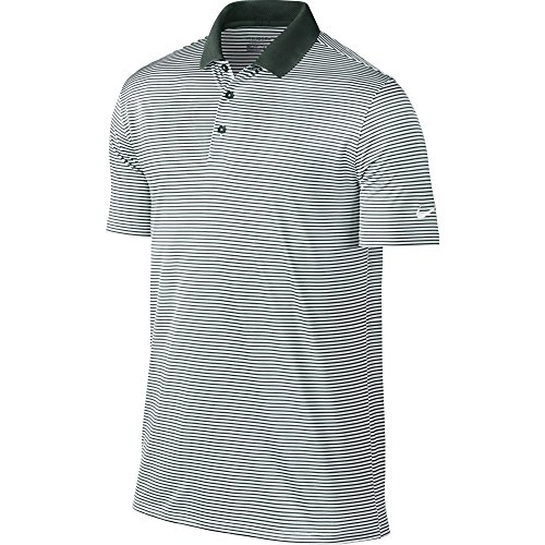 ni Stripe Polo (Pro Green/White) (Large) ()