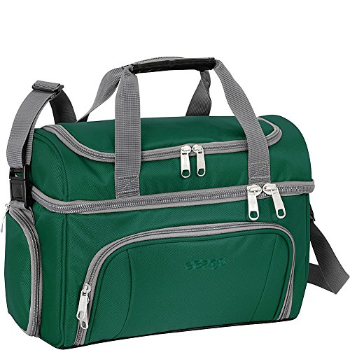 eBags Crew Cooler II Soft Sided Insulated Lunch Box - For Work, Travel & Weekends - (Emerald)