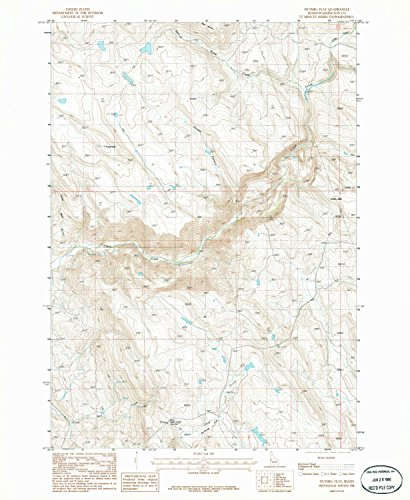 Nutmeg Flat ID topo map, 1:24000 scale, 7.5 X 7.5 Minute, Historical, 1986, updated 1986, 26.8 x 22 IN - (Nutmeg Sheet)