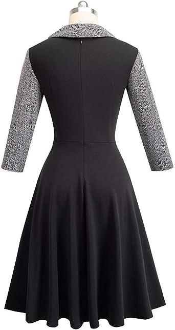 Elegancka damska sukienka biznesowa w stylu vintage, z koronkowym wzorem, długość do kolan, sukienka wieczorowa, sukienka biznesowa, biznesowa, na imprezę, na bodykon, ołÓwki, koktajlowa: Odzie&#
