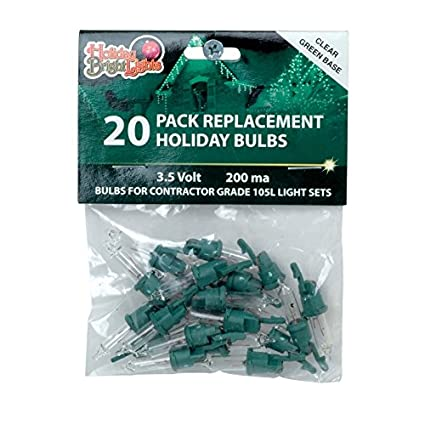 Holiday Bright Lights Contractor Replacement Bulb Set 3.5 V Green - Holiday Bright Lights Contractor Replacement Bulb Set 3.5 V Green