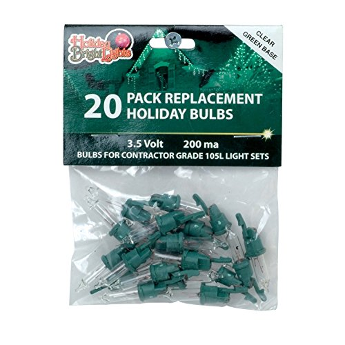 holiday bright lights contractor replacement bulb set 35 v green christmas clear light bulb replacement amazoncom