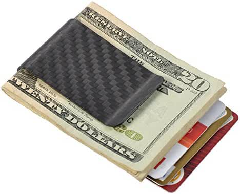 Carbon Fiber Money Clip Minimalist Wallet Front Pocket Slim Wallet Credit Business Card Holder – PAL&SAM