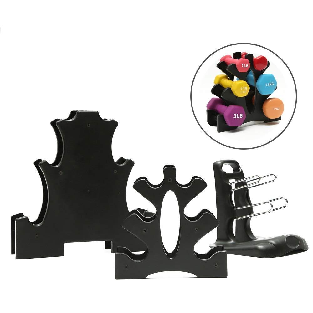 DMAR Dumbbells Rack Holder Detachable Free Weight Stand Dumbbell Support for Household Fitness Women Men Crossfit Body Building Exercise Equipment Barbell Home Gym(01)